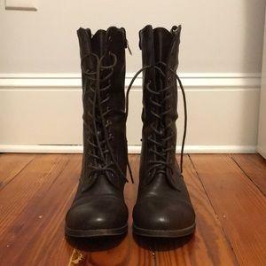 ModCloth dbdk dark brown combat boots